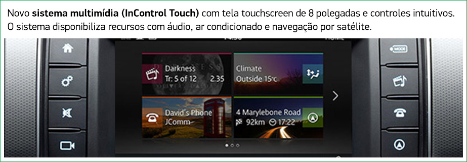 Novo sistema multimídia (InControl Touch)